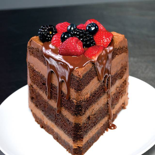 Truluck's Chocolate Malt Cake - Truluck's Seafood, Steak and Crab House - Austin Arboretum, Austin, TX