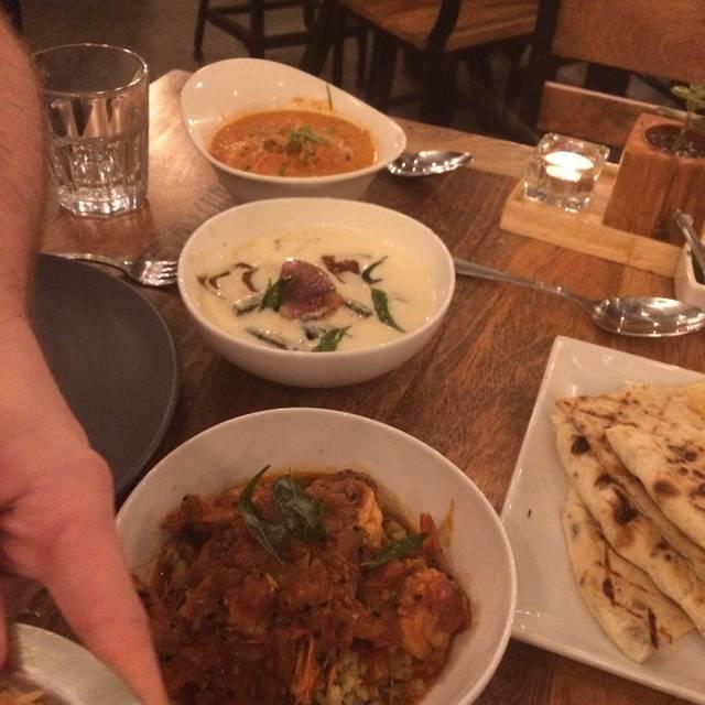 Ghee Indian Kitchen Dadeland Menu