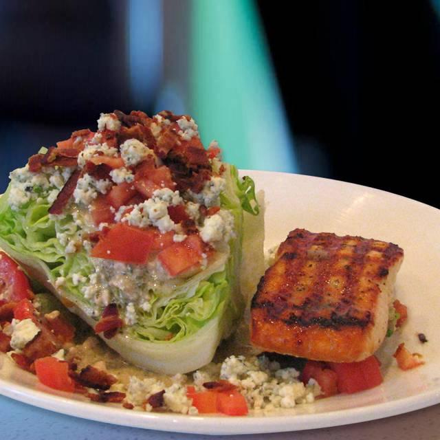 Wedge Salad With Grilled Salmon - Legal C Bar - Lynnfield, Lynnfield, MA