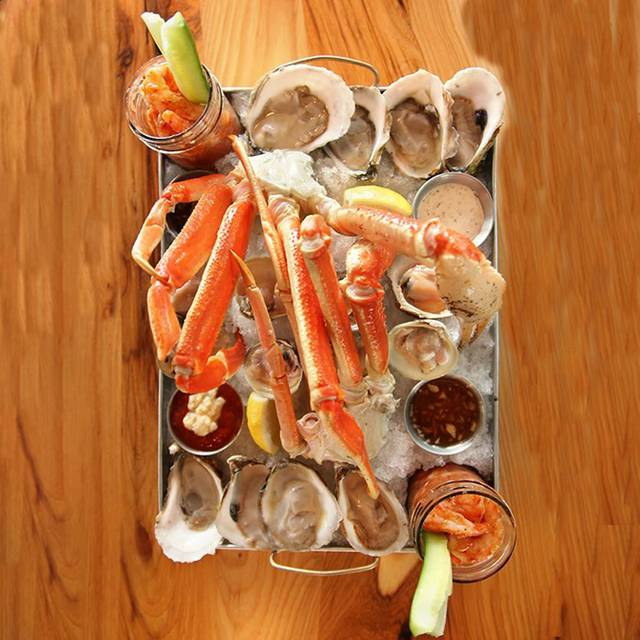 Raw Shellfish Platter Oysters - Legal Harborside - Floor 1 Restaurant and Market, Boston, MA