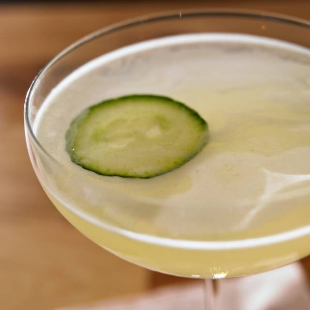 Cucumber Gimlet Cocktails - Legal Harborside – Floor 2 Dining Room, Boston, MA