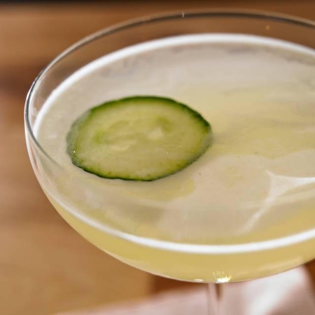 Cucumber Gimlet Cocktails - Legal Harborside – Floor 2 Dining Room, Boston, MA