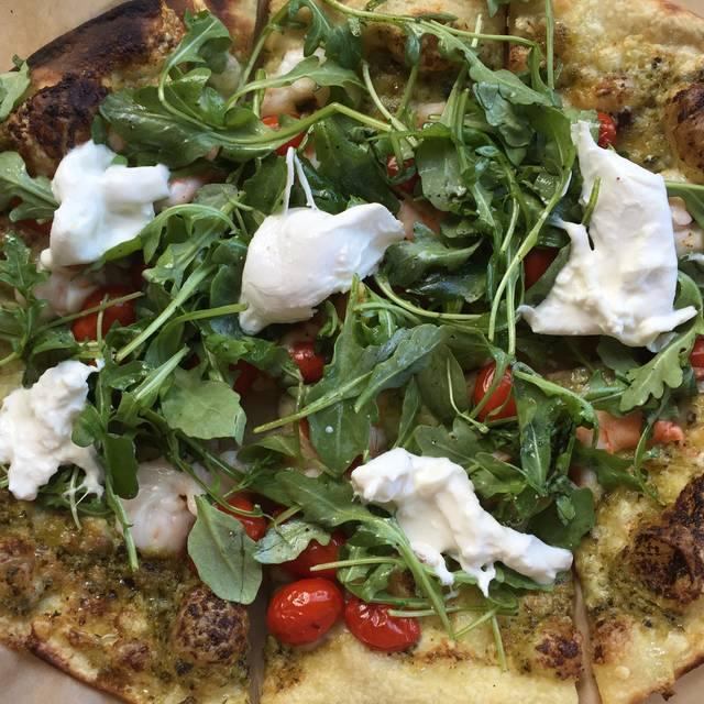 Shrimp Pizza - Legal Oysteria, Charlestown, MA