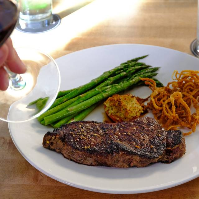 New York Steak With Red Wine - Chop Steakhouse & Bar - Downtown Edmonton - 101 St, Edmonton, AB