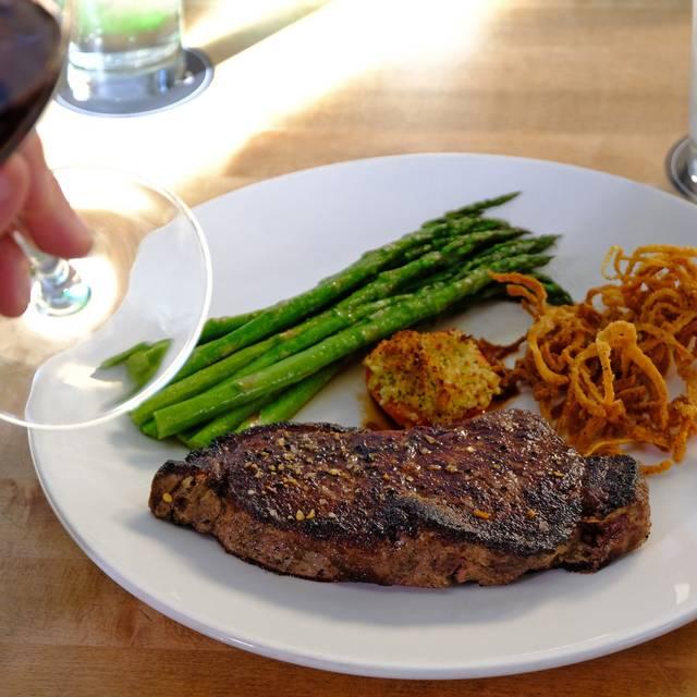 New York Steak With Red Wine - Chop Steakhouse & Bar - West Edmonton - Stony Plain Road, Edmonton, AB