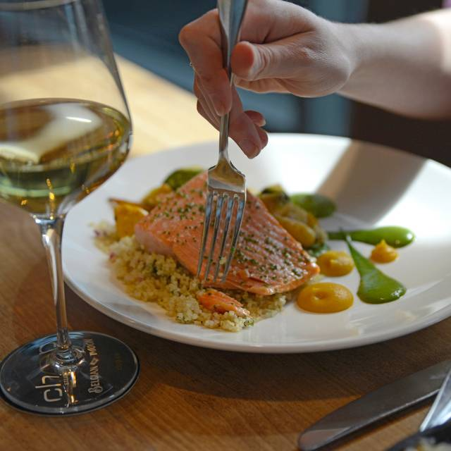 Slow-Baked Salmon With White Wine - Chop Steakhouse & Bar - Barlow, Calgary, AB
