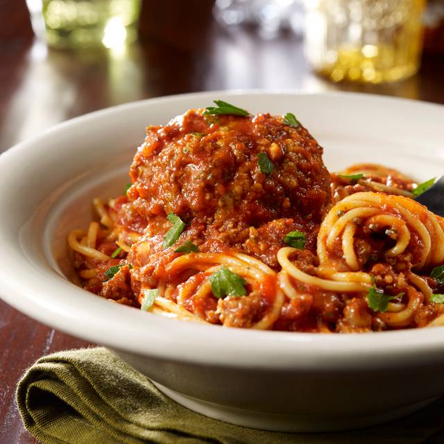 Spaghetti Marinara & Meatballs - Maggiano's - Farmers Market, Los Angeles, CA