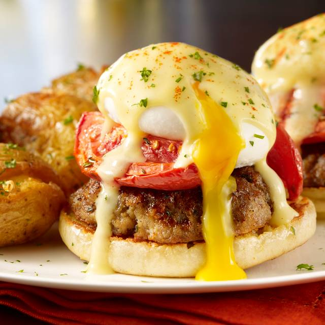 Meatball Benedict - Maggiano's - Farmers Market, Los Angeles, CA