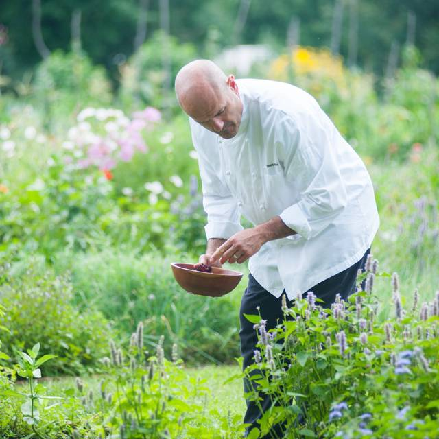 Chef Eddy In Garden - Winvian Farm - Winvian Farms, Morris, CT