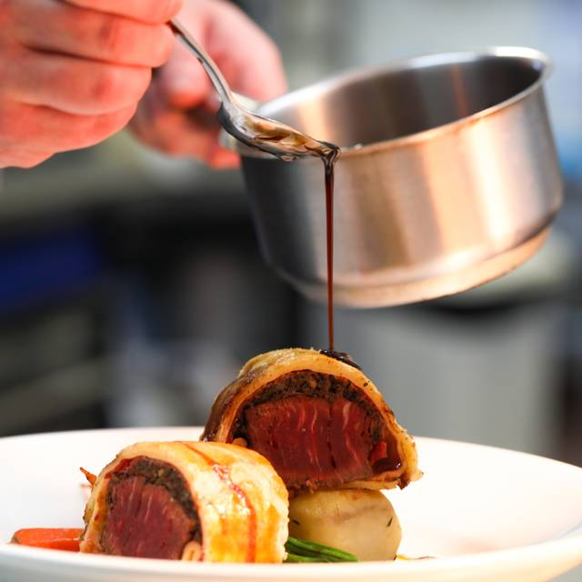 Beef Wellington - The Restaurant at Stratton House Hotel, Cirencester, Gloucestershire