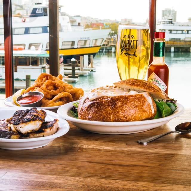 Pier market seafood restaurant pier 39 sf restaurant for San francisco fish market