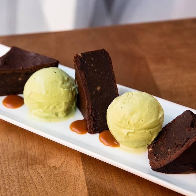 Dark Chocolate White Miso Brownie - Haru Sushi - W 43rd, New York, NY