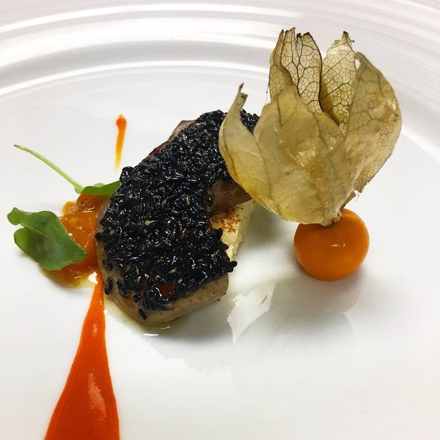 Foie Black Sesame Seed - Chef Mavro, Honolulu, HI