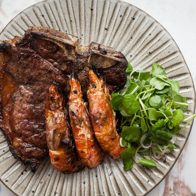 Steak & Coal Grilled Wild Red Argentinian Prawns - Wright Brothers Battersea, London