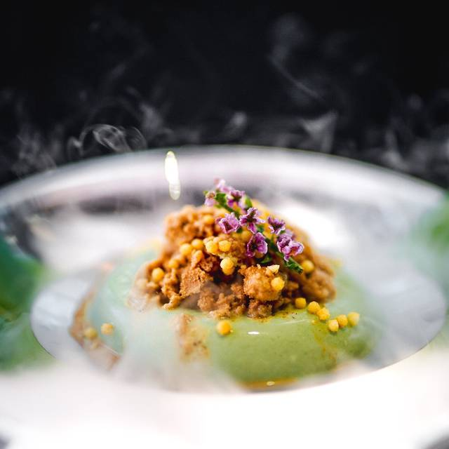 Kinako ​soybean Milk Pannacotta With Ginger Tea Granita And Crispy Rice - Aqua, Kowloon, Hong Kong