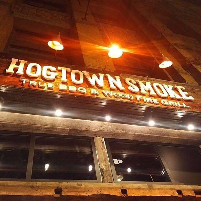 Signage - Hogtown Smoke on Colborne St., Toronto, ON