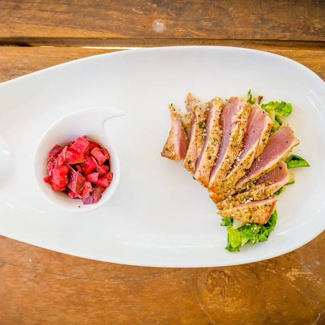 Roasted-sesame-tuna-with-ginger-juice-bok-choy-with-raddish-and-beetroot-kimchi - HiR Fine Dining, Pinilla, Guanacaste