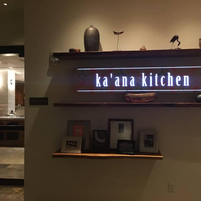 Ka'ana Kitchen at Andaz Maui, Wailea, HI