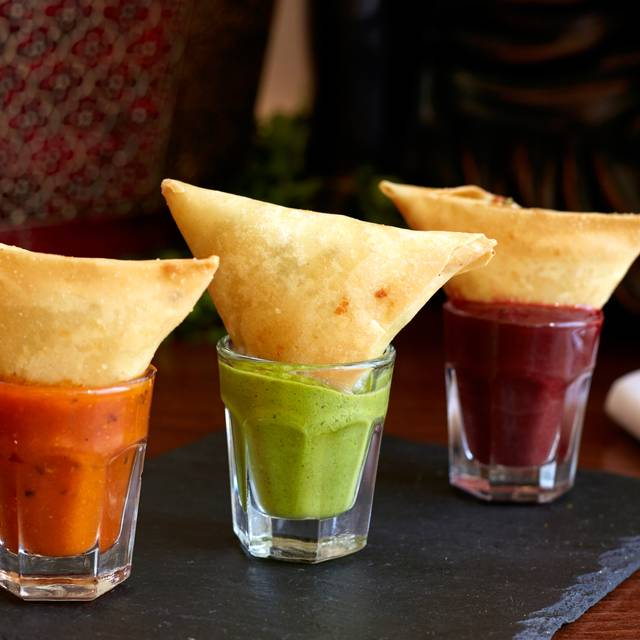 Pounded Coriander And Goats Cheese Samosa - Pure Indian Cooking, London