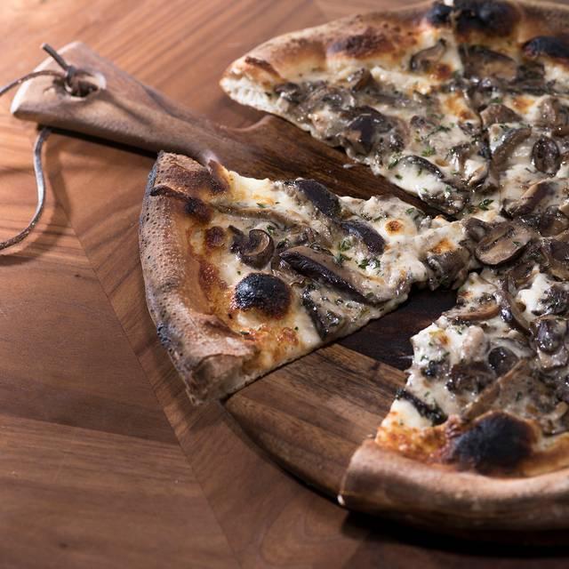 Mushroom Pizza On Board - Taste at the Palisades, Pacific Palisades, CA