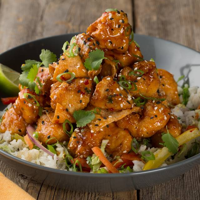 Crispy Chili Chicken Bowl - Milestones Grill + Bar -  Lansdowne Park, Ottawa, ON