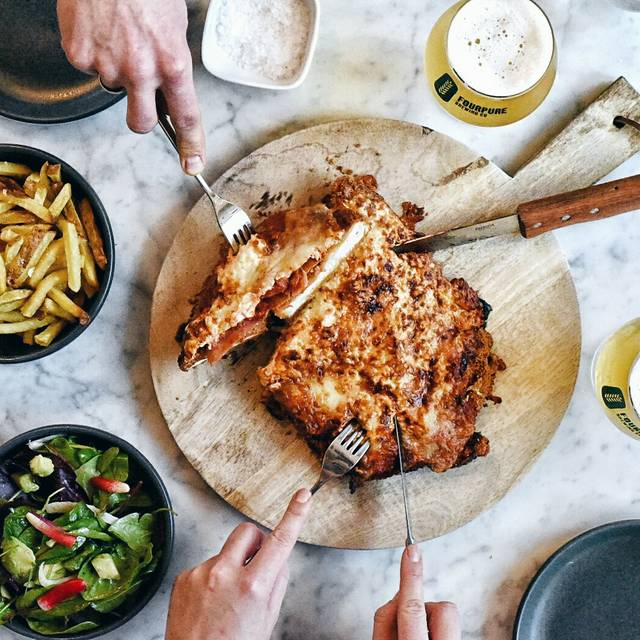 Giant Chicken Parmigiana W House Salad - Timmy Green, London