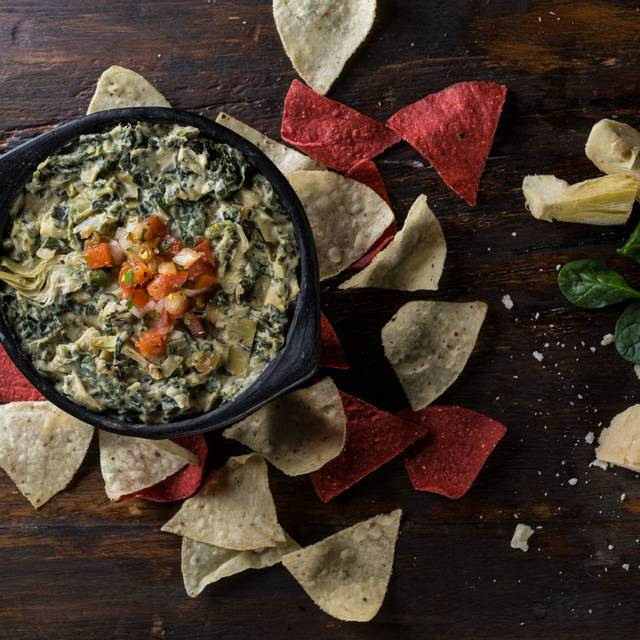 Hot Spinach & Artichoke Dip - Milestones Grill + Bar - The Queensway, Etobicoke, ON