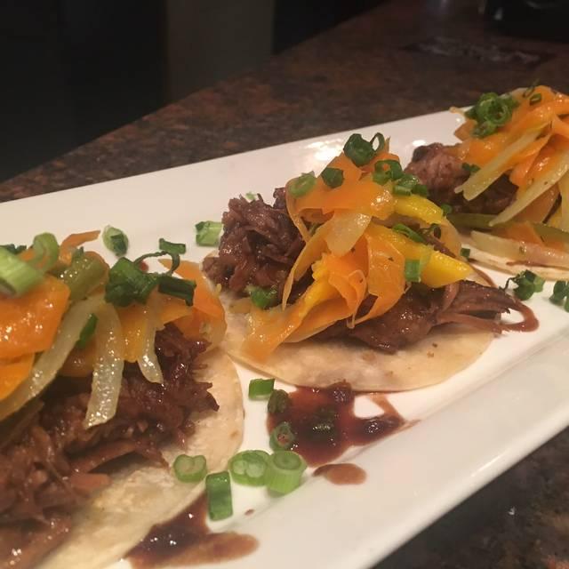 Pork tacos - Three Restaurant & Bar, San Mateo, CA