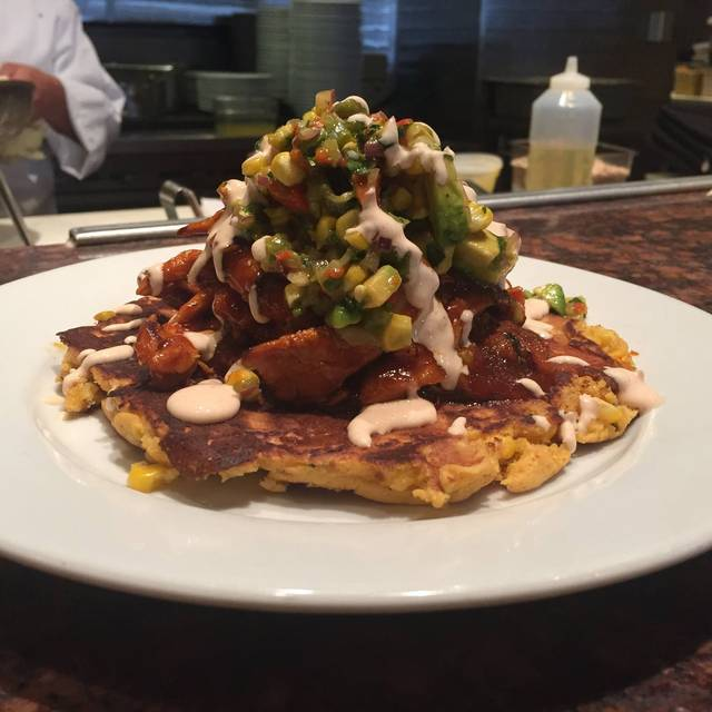 Corn pancake - Three Restaurant & Bar, San Mateo, CA