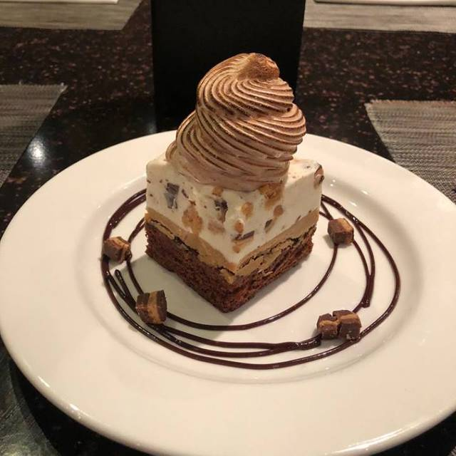 Peanut baked alaska - Three Restaurant & Bar, San Mateo, CA