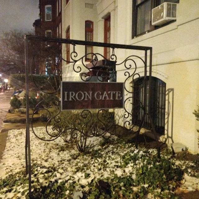 Iron gate restaurante washington dc opentable