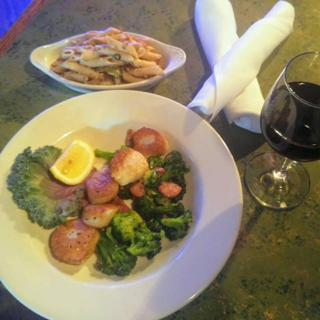 Pan Seared Scallops Broccoli W Alligator Sausage - The Point at Glenwood, Raleigh, NC