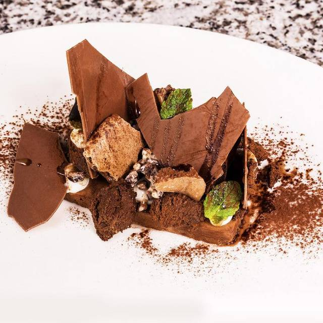 Chocolate Brownie  - Grafene Restaurant & Bar, Manchester