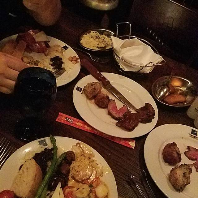 Texas de Brazil is a churrascaria, or Brazilian steakhouse, that features several cuts of flame-grilled beef, lamb, pork, chicken and Brazilian sausage as well as an extravagant salad area with a wide array of seasonal chef-crafted items.4/4().