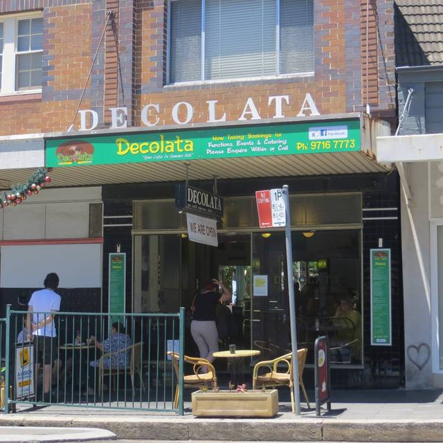 Decolata Cafe Menu