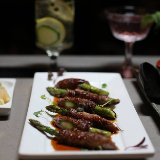 Filet Wrapped Asparagus - FIN Asian Tapas - Hollywood, Los Angeles, CA