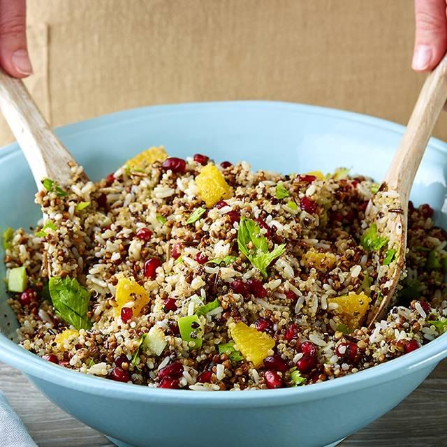 Ancient Grain Salad Quinoa Chia Seeds Kasha Wild Rice With Les