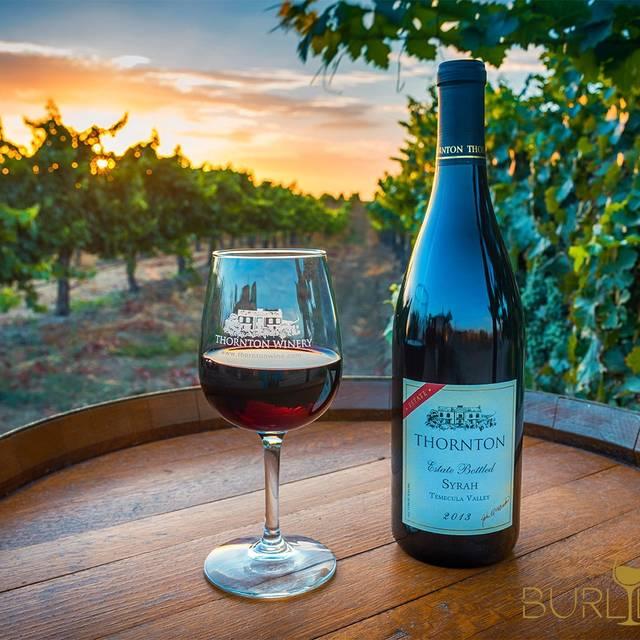 Cafe Champagne Restaurant - Thornton Winery, Temecula, CA