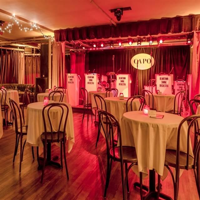 Supper Club at Capo Restaurant, South Boston, MA