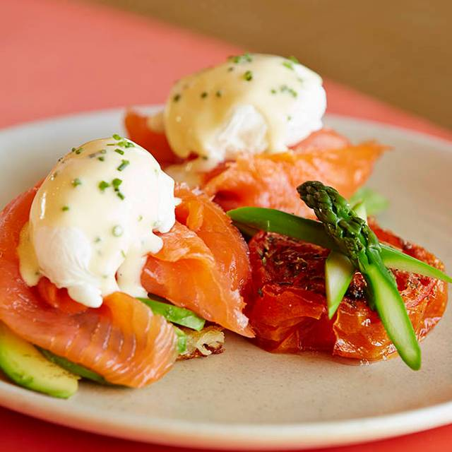 Salmon Eggs Benedict - The Rooftop Grill at Montage Beverly Hills, Beverly Hills, CA