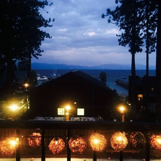 Dark Deck View - Wolfdale's Cuisine Unique, Tahoe City, CA