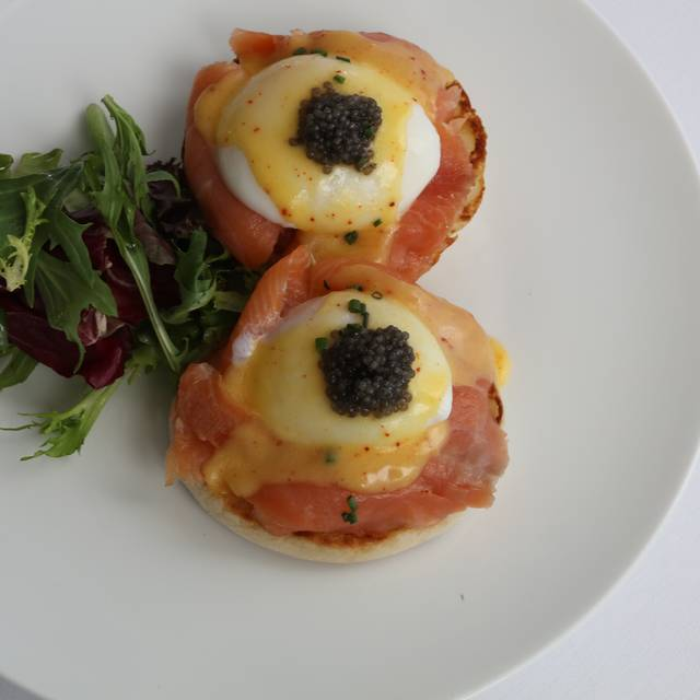 Eggs Benedict - Petrossian Paris Boutique & Restaurant, West Hollywood, CA