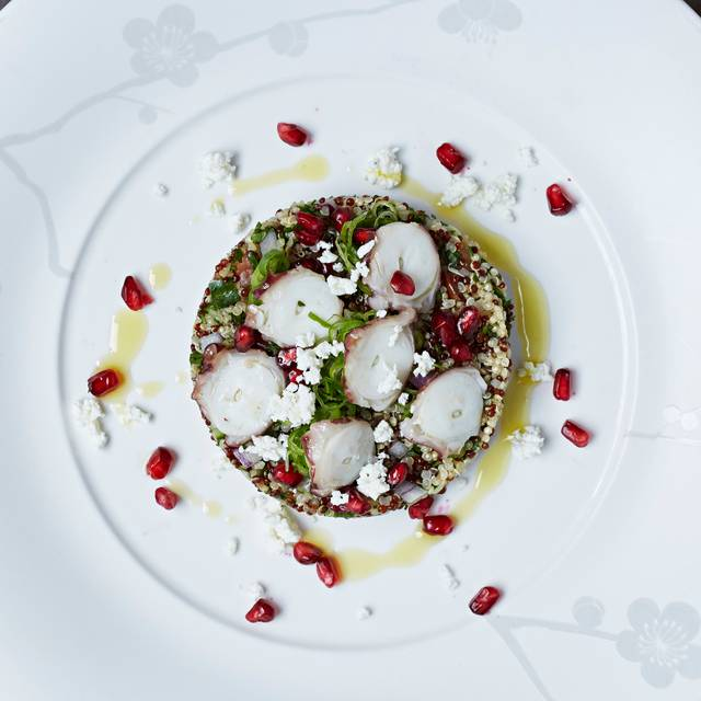 Steven Joyce-quinoa Tabouli, Oven Dried Tomatoes, Octopus & Feta - Nobu Shoreditch, London