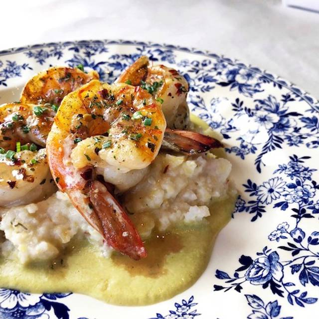 Shrimp & Homestead Grits - Bird Cafe, Fort Worth, TX