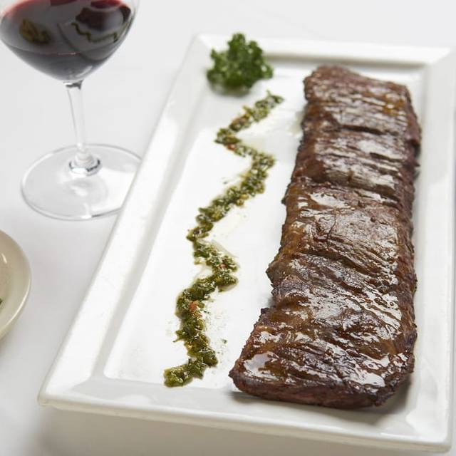 Grilled USDA Prime Skirt Steak with Chimichurri - Carlitos Gardel Argentine Steakhouse, Los Angeles, CA