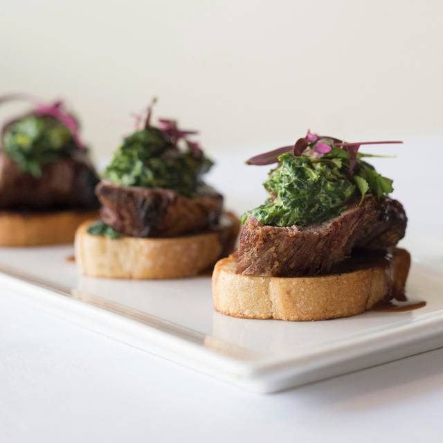 Steak on toast - Nick & Stef's Steakhouse - New York, New York, NY