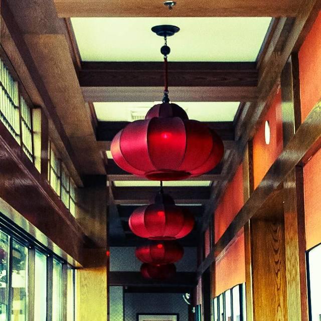 Mikado Red Hallway Lamp  - Mikado at Desert Springs JW Marriott, Palm Desert, CA