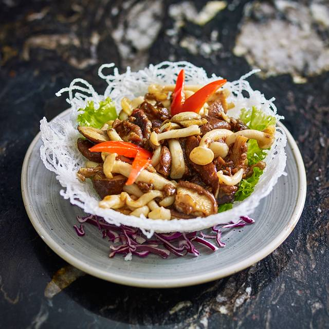 Wild Mushroom Salad With Vegetarian Xo Sauce - Min Jiang, London
