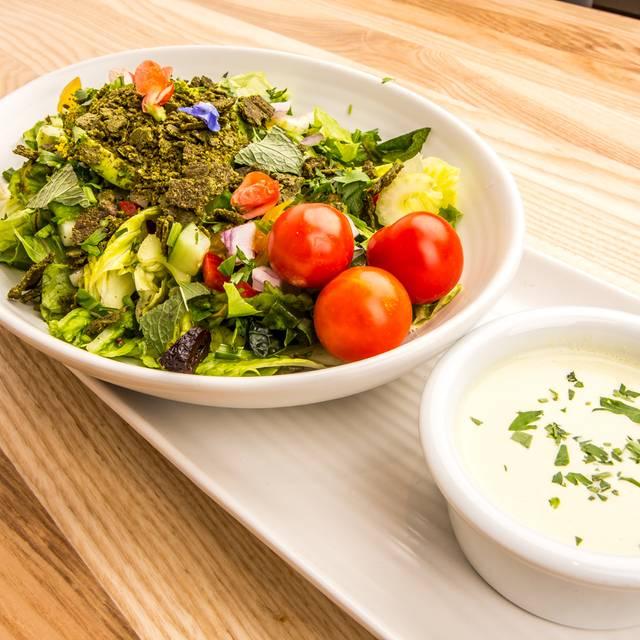 Falafel Salad - Rawtopia Living Cuisine and Beyond, Millcreek, UT