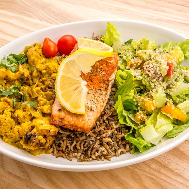 Cauliflower Delight With Salmon - Rawtopia Living Cuisine and Beyond, Millcreek, UT